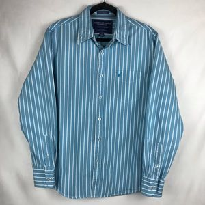 American Eagle Outfitters Shirt Blue White Stripe